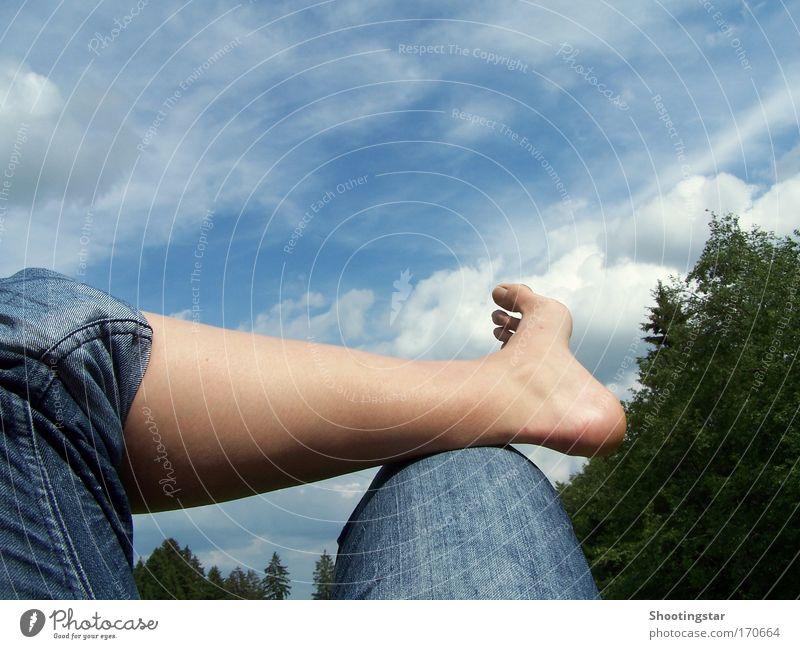 Pause Sommer Erholung Freiheit Beine Zufriedenheit warten liegen Gelassenheit genießen bequem stagnierend