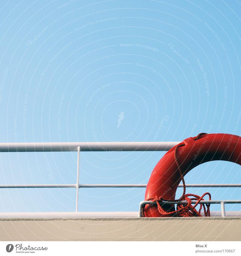 für Notfälle Farbfoto Außenaufnahme Detailaufnahme Menschenleer Ferien & Urlaub & Reisen Tourismus Abenteuer Kreuzfahrt Meer Schönes Wetter Küste Nordsee Ostsee