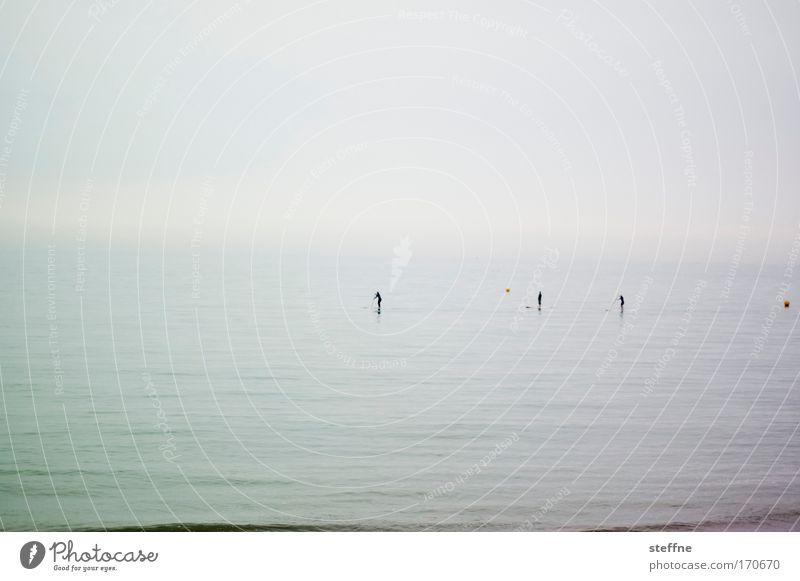 silence Meer ruhig Erholung Gefühle Glück Traurigkeit Stimmung Nebel Gelassenheit entdecken atmen Ostsee Nordsee geduldig Paddeln Bootsfahrt