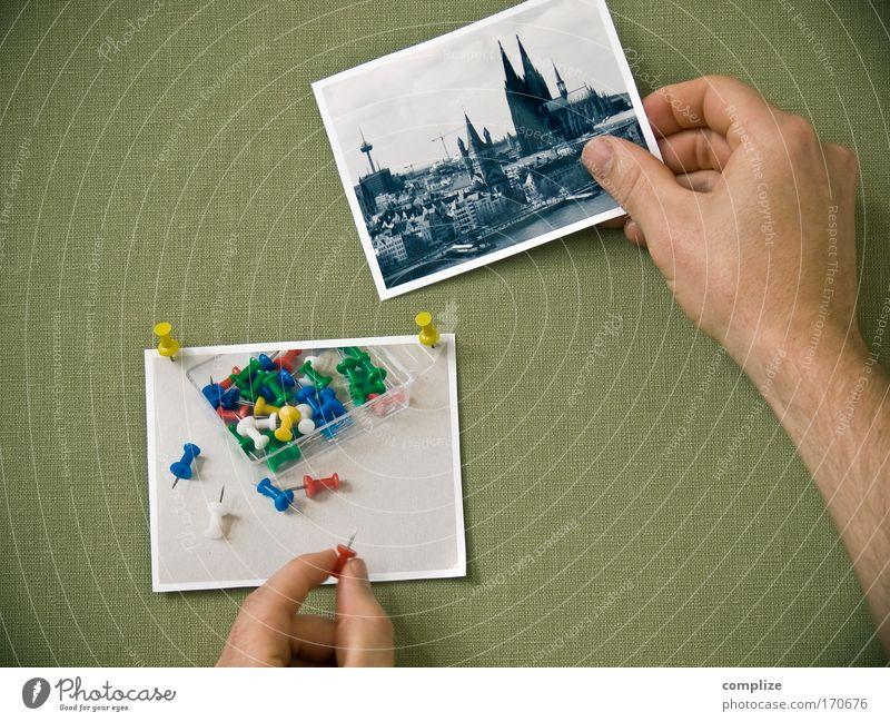 Köln Mann Hand Stadt Stil Erwachsene Arme Freizeit & Hobby Wohnung Fotografie Finger verrückt planen maskulin Dekoration & Verzierung Bild festhalten