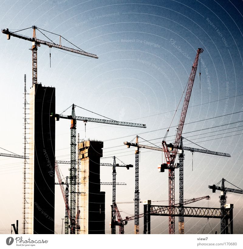 macht neu Himmel Traurigkeit Stimmung Energiewirtschaft hoch außergewöhnlich Hochhaus authentisch Baustelle Industrie bedrohlich Fabrik Fahrzeug Kontrolle