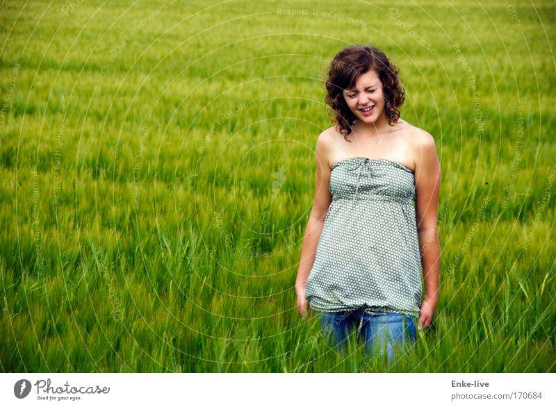_Hääää_WHAT_!!!_ Natur Jugendliche grün schön Sommer Einsamkeit Stil Denken träumen Gesundheit Feld Angst verrückt authentisch außergewöhnlich stehen