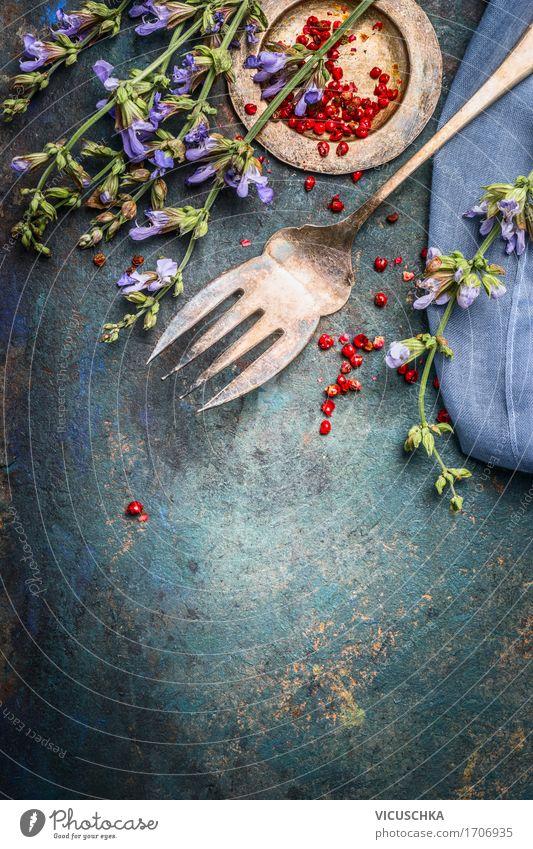 Kräuter und Gewürze für Kochen Lebensmittel Kräuter & Gewürze Ernährung Bioprodukte Vegetarische Ernährung Gabel Stil Design Gesunde Ernährung Tisch Küche