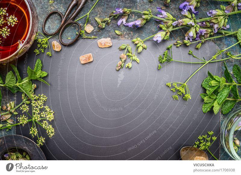 Kräutertee machen Natur Gesunde Ernährung Leben Stil Gesundheit Lebensmittel Design Tisch Kräuter & Gewürze Getränk Wohlgefühl Medikament Duft Tee Tasse