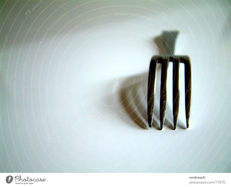 Besteckteil Gabel Mahlzeit Tisch Dinge Fork Ernährung Decke Schilder & Markierungen Schatten Spitze
