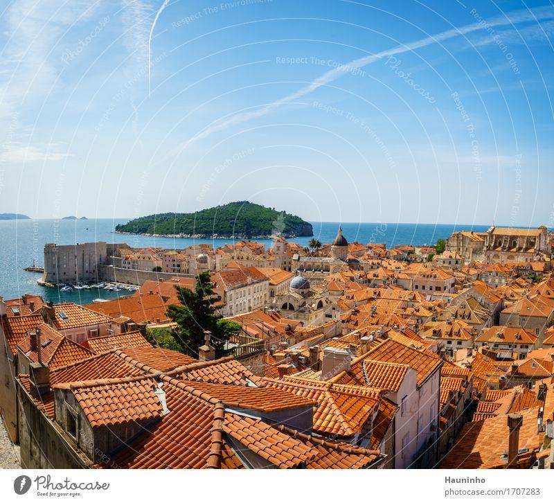 Dubrovnik lV Ferien & Urlaub & Reisen Tourismus Ausflug Sightseeing Städtereise Sommerurlaub Meer Häusliches Leben Haus Umwelt Natur Himmel Schönes Wetter