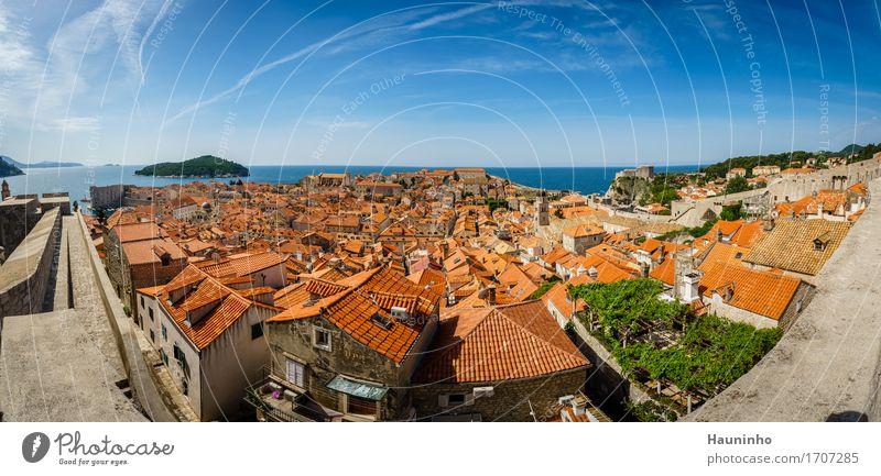 Dubrovnik XlV Himmel Natur Ferien & Urlaub & Reisen Pflanze Sommer Meer Landschaft Haus Fenster Architektur Wand Gebäude Mauer Tourismus Fassade Kirche