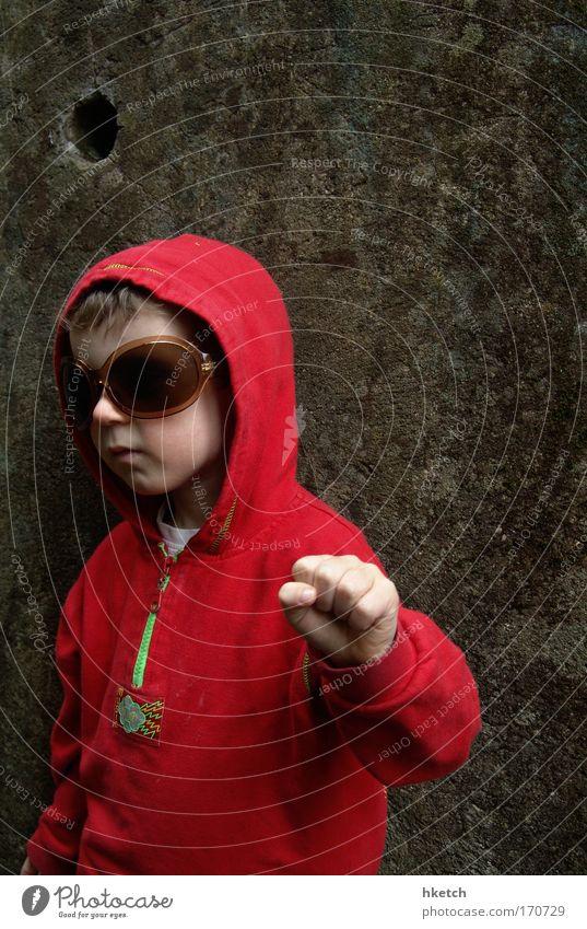 Cool, Dude! Mensch rot dunkel Kind Wand Junge Musik Stein Mauer blond Tanzen Beton maskulin Erfolg Coolness Diskjockey