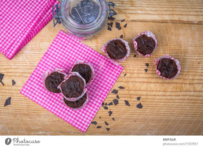 Kleine Muffin Bescherung Lebensmittel rosa Ernährung Glas genießen süß Süßwaren Frühstück Dessert Kuchen Backwaren Schokolade Teigwaren Büffet Brunch