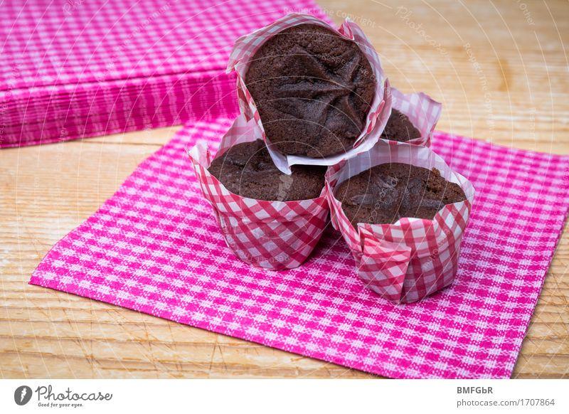 Süße, kleine Schokomuffins Lebensmittel Teigwaren Backwaren Dessert Süßwaren Schokolade Ernährung Frühstück Kaffeetrinken Büffet Brunch Festessen Fingerfood
