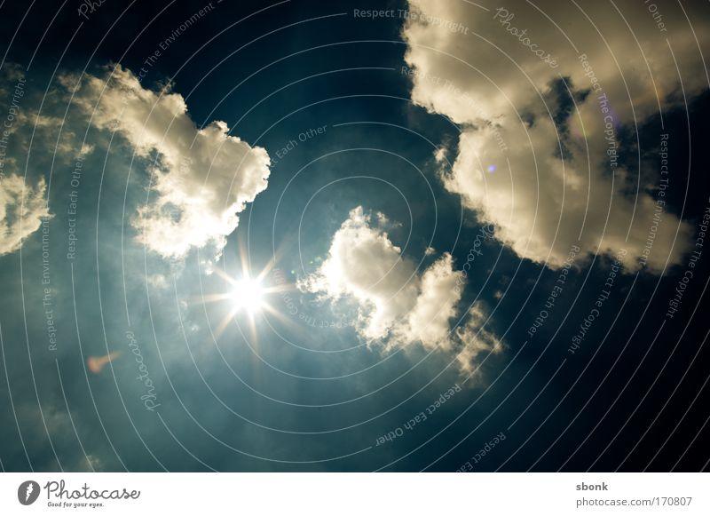 where is the sun Natur Himmel Sonne Sommer Wolken Luft Beleuchtung Wetter Umwelt Klima Gegenlicht Sonnenbad Schönes Wetter blenden Licht nur Himmel
