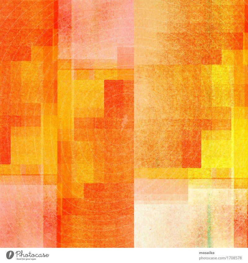 graphische Formen - orange und gelb Freude Leben Lifestyle Stil Design Zufriedenheit elegant Fröhlichkeit Freundlichkeit Wohlgefühl harmonisch