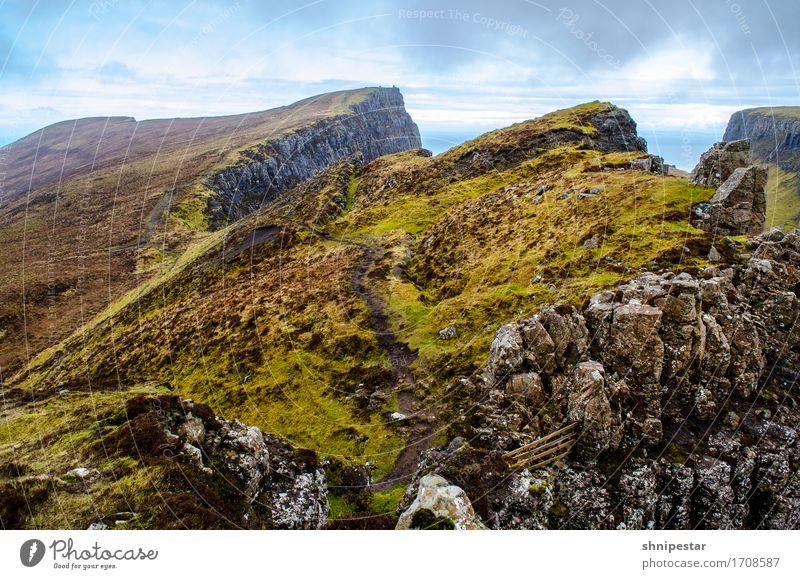 The Quiraing Natur Ferien & Urlaub & Reisen Pflanze Landschaft Erholung Berge u. Gebirge Umwelt außergewöhnlich Tourismus Wetter wandern Ausflug Sträucher Insel