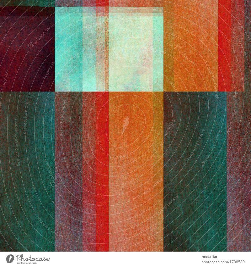 Graphische Formen elegant Stil Design Papier Graffiti alt ästhetisch Coolness trendy blau braun grau grün orange rot türkis Farbe Freizeit & Hobby Idee