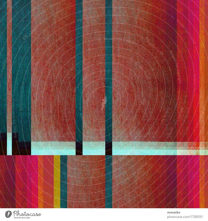 Graphische Formen Lifestyle elegant Stil Design Kunst Papier Stein gut einzigartig positiv retro blau braun rot türkis Farbe Idee Inspiration Nostalgie Streifen