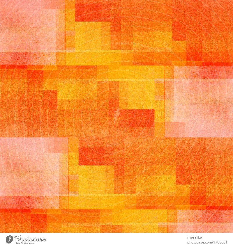 Graphische Formen - orange und gelb Freude Lifestyle Stil Kunst hell Design Treppe elegant ästhetisch Fröhlichkeit einzigartig Papier Streifen Niveau