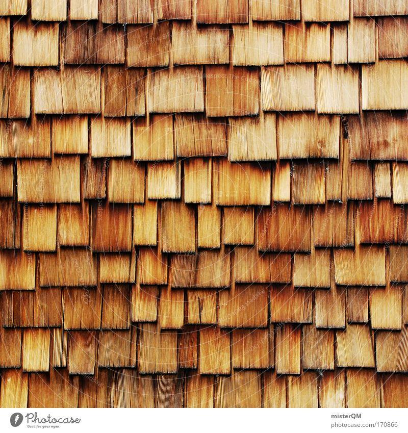 Dach der Welt. alt Haus Holz Kunst Fassade modern Dach viele retro USA Fliesen u. Kacheln Zusammenhalt Markt Konstruktion verwittert Genauigkeit