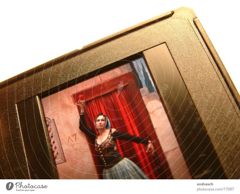 Golden Dia Frau Fotografie Filmindustrie Dinge Theaterschauspiel Karnevalskostüm Rahmen Dia