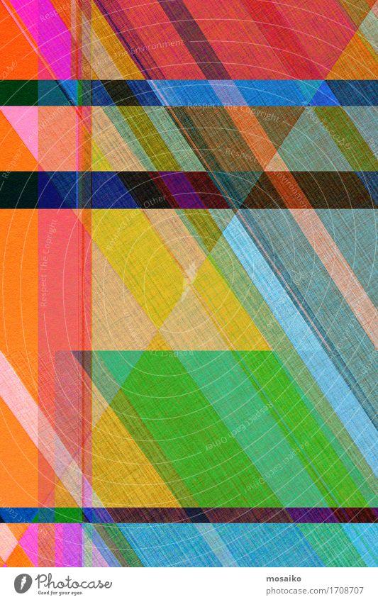 Papier Design - Graphische Formen elegant Stil Business Schreibwaren einfach trendy einzigartig Originalität positiv blau mehrfarbig gelb Genauigkeit Idee