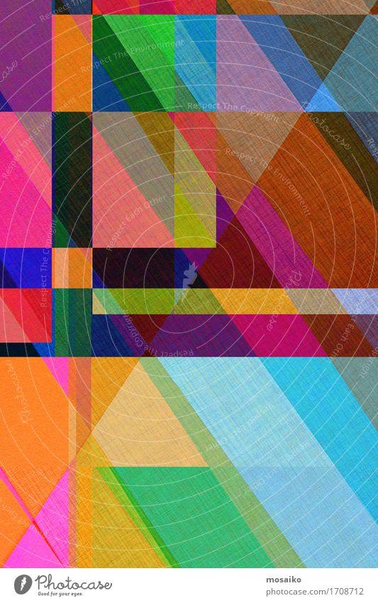 Papier Design - Graphische Formen Lifestyle elegant Stil Business einfach trendy gelb graphisch Grafik u. Illustration mehrfarbig Farbe abstrakt diagonal