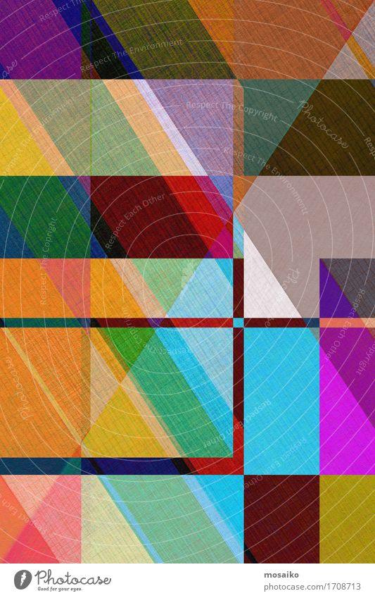 graphische Formen - Papier Lifestyle Stil Design Business ästhetisch elegant trendy modern Originalität retro blau braun mehrfarbig gelb grün violett orange