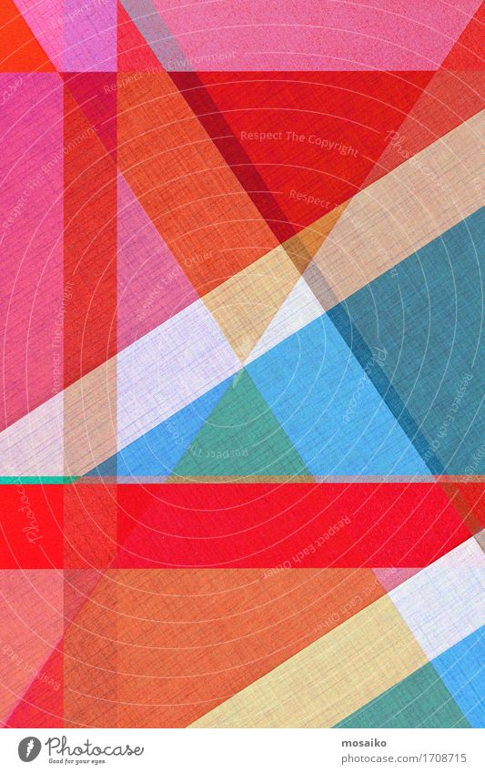 Papier - graphische Formen Design Business ästhetisch außergewöhnlich einfach exotisch trendy schön mehrfarbig rot diagonal Kreativität Idee Niveau gestalten