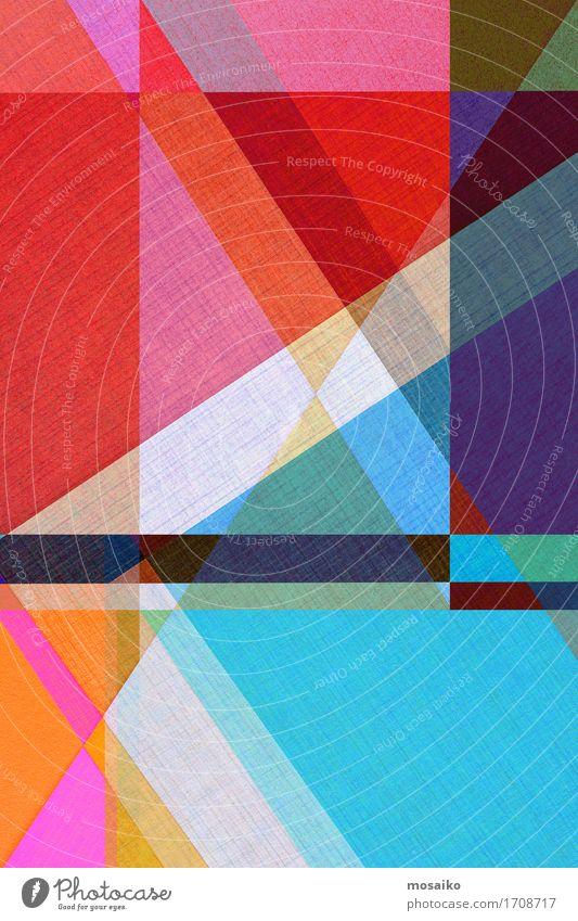 Papier - graphische Formen blau rot Hintergrundbild Kunst außergewöhnlich Business Mode Linie Design modern ästhetisch Kreativität Idee einfach Niveau