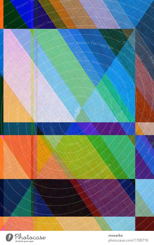 Papier - graphische Formen Lifestyle elegant Stil Design Business ästhetisch einfach exotisch Fröhlichkeit trendy retro blau mehrfarbig grün diagonal