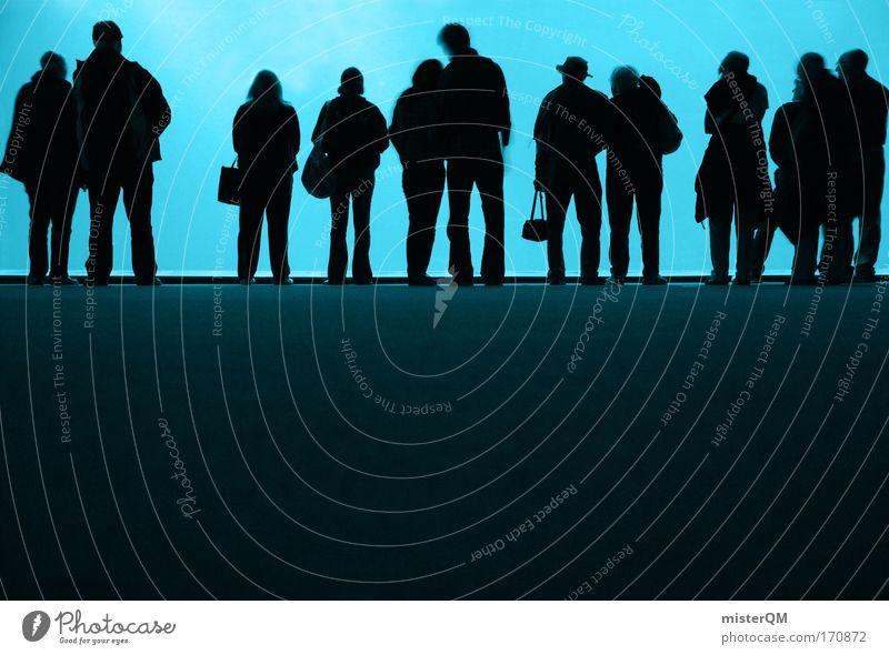 IT Mensch Schatten Veranstaltung abstrakt Menschengruppe viele Silhouette Gesellschaft (Soziologie) Menschenmenge Kultur Farbe Schattenspiel dezent Versammlung