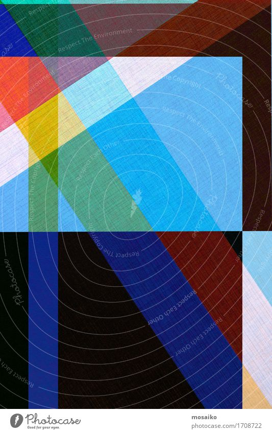 Papier - graphischer Hintergrund blau Farbstoff Lifestyle Stil Kunst außergewöhnlich Linie Design elegant modern ästhetisch Coolness trendy durchsichtig