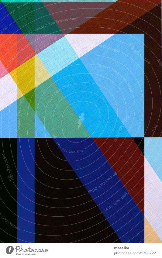 Papier - graphischer Hintergrund Lifestyle elegant Stil Design ästhetisch außergewöhnlich Coolness trendy modern blau mehrfarbig Geometrie minimalistisch Linie