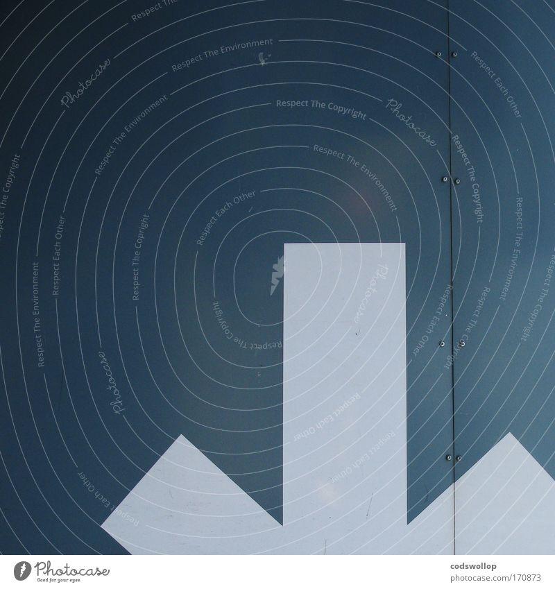 arrow als verb im biologischen sinne Außenaufnahme Parkplatz Zeichen Schilder & Markierungen Hinweisschild Warnschild Verkehrszeichen Pfeil abstrakt Signal