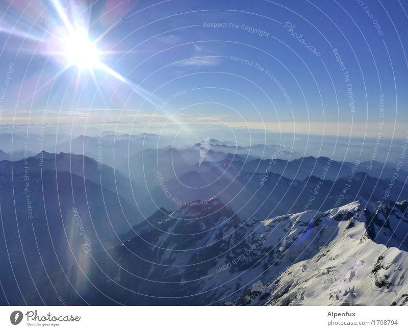 strandpanorama.... Klettern Bergsteigen Bergsteiger Umwelt Natur Landschaft Schönes Wetter Hügel Felsen Alpen Berge u. Gebirge Monte Rosa Gipfel