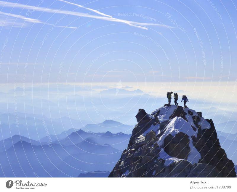 Top of swiss II Klettern Bergsteigen Bergsteiger Umwelt Natur Landschaft Schönes Wetter Schnee Hügel Felsen Alpen Berge u. Gebirge Monte Rosa Dufourspitze