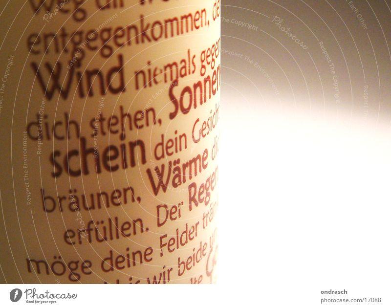 Schöne Worte Sonne Wärme Wind Kerze Schriftzeichen Dinge Typographie