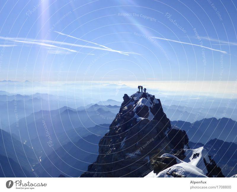 Piemont von Oben Natur Landschaft Berge u. Gebirge Umwelt Schnee Felsen Kraft Erfolg Lebensfreude Schönes Wetter Abenteuer Gipfel Hügel Alpen