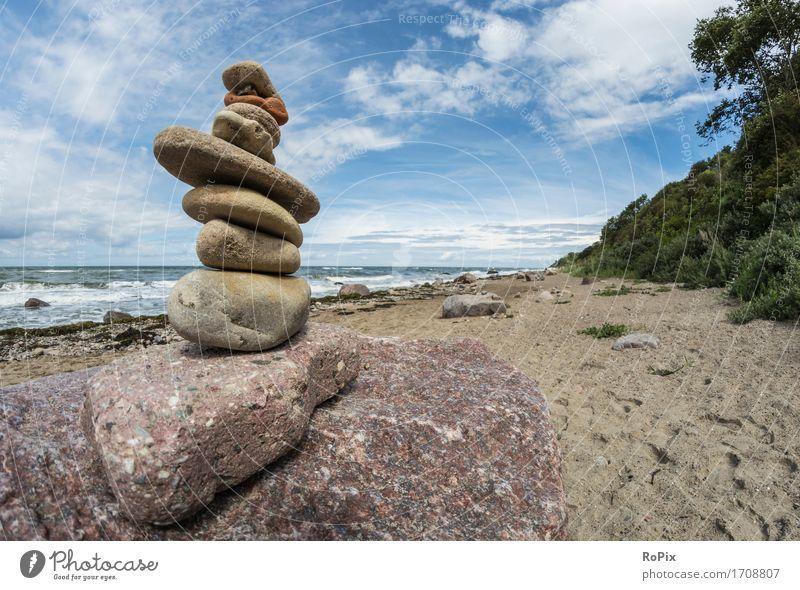 baltic sea Erholung ruhig Meditation Freizeit & Hobby Freiheit Sommerurlaub Strand Meer Umwelt Natur Landschaft Urelemente Wasser Himmel Schönes Wetter Wellen