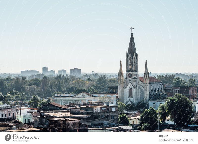 Camagüey Himmel Ferien & Urlaub & Reisen Stadt Haus Ferne Tourismus Kirche Schönes Wetter Abenteuer Fernweh Stadtzentrum Wolkenloser Himmel Städtereise