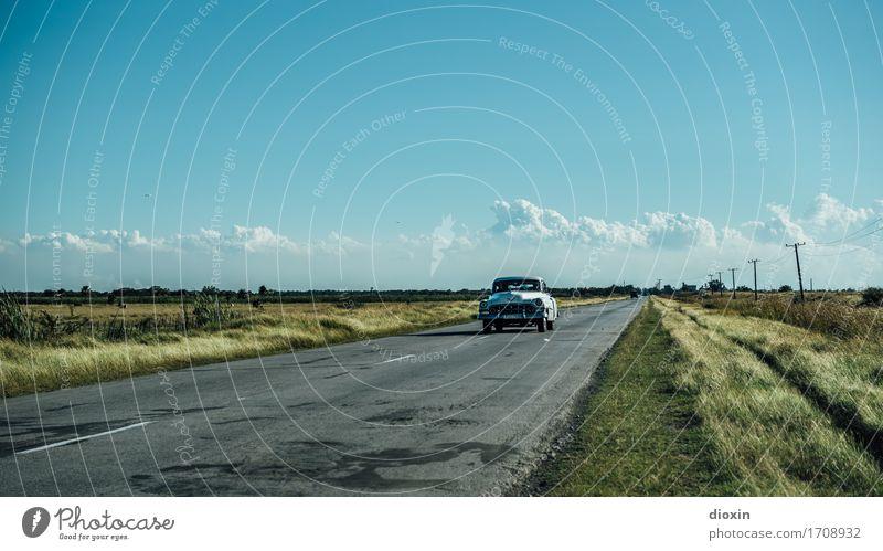 Autobahn nach Havanna Ferien & Urlaub & Reisen Tourismus Ausflug Abenteuer Ferne Kuba Südamerika Karibik Verkehr Straße Fahrzeug PKW Oldtimer Limousine Fernweh