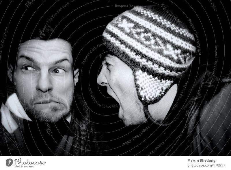Kommunikationsproblem sprechen Mensch maskulin Junger Mann Jugendliche Freundschaft Gesicht 2 18-30 Jahre Erwachsene Theaterschauspiel Wollmütze
