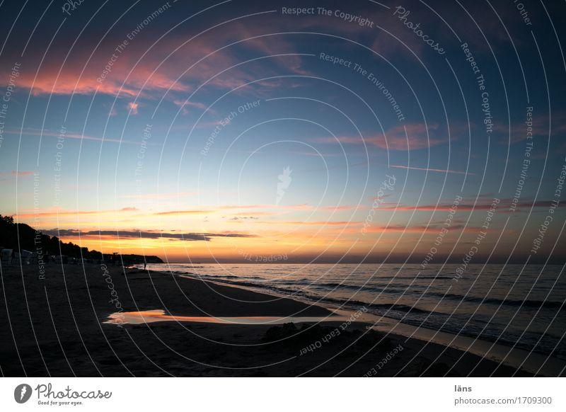 Übergang Himmel Ferien & Urlaub & Reisen Sommer Sonne Landschaft Meer Erholung Wolken Ferne Strand Küste Stimmung Sand Tourismus Zufriedenheit Wellen