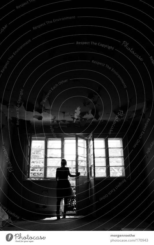 die tür zur welt Frau Leben Fenster Erde Tür Beginn Kleid