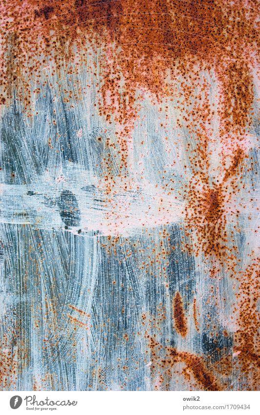 Nun ja Kunst Kunstwerk Tür Metall blau orange rot weiß geduldig ruhig geheimnisvoll Rätsel Schutz Sicherheit Vergänglichkeit Wandel & Veränderung Rost
