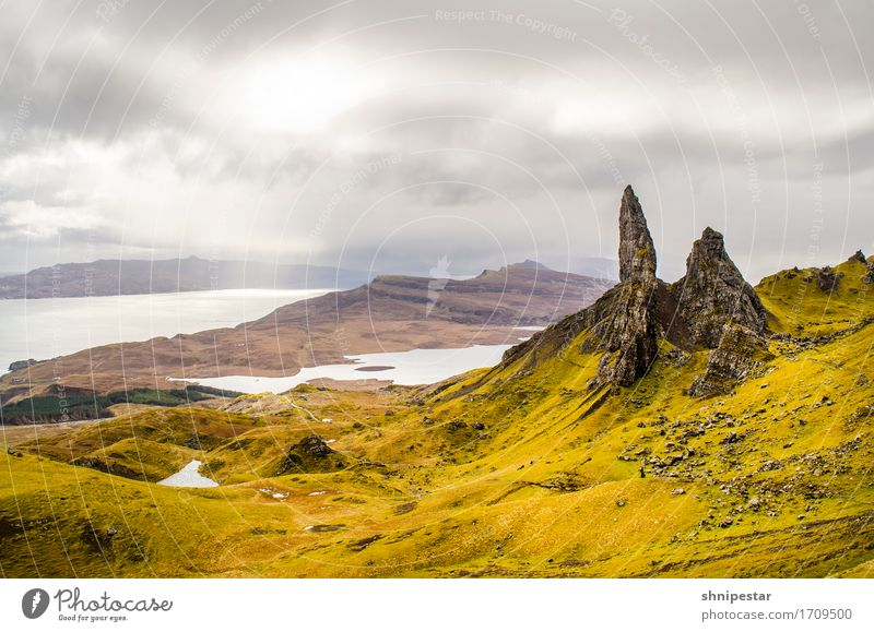 Old Man of Storr, Isle of Skye, Scotland Freizeit & Hobby Ferien & Urlaub & Reisen Tourismus Ausflug Abenteuer Ferne Freiheit Sightseeing Expedition