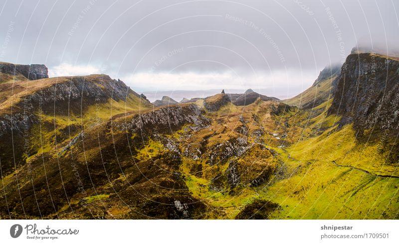 The Quiraing Natur Ferien & Urlaub & Reisen Pflanze Landschaft Erholung Ferne Berge u. Gebirge Sport Freiheit Felsen Tourismus Wetter Erde wandern Ausflug Insel
