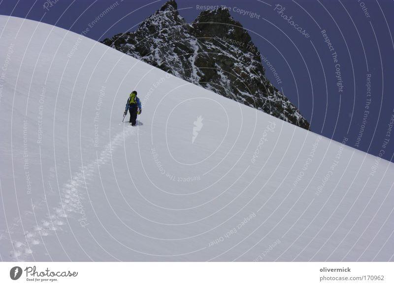 75... Tag Gesundheit Zufriedenheit Freizeit & Hobby Abenteuer Freiheit Schnee Berge u. Gebirge wandern Sport Klettern Bergsteigen 1 Mensch Umwelt Natur