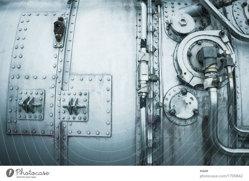Metallware Design Industrie Maschine Motor Getriebe Zeitmaschine Technik & Technologie High-Tech Luftverkehr Verkehrsmittel Flugzeug fliegen alt dreckig kalt