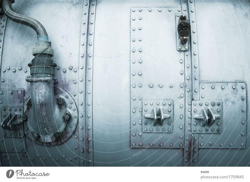 Zeitmaschine Design Industrie Maschine Motor Getriebe Technik & Technologie High-Tech Luftverkehr Verkehrsmittel Flugzeug Metall fliegen alt dreckig kalt silber