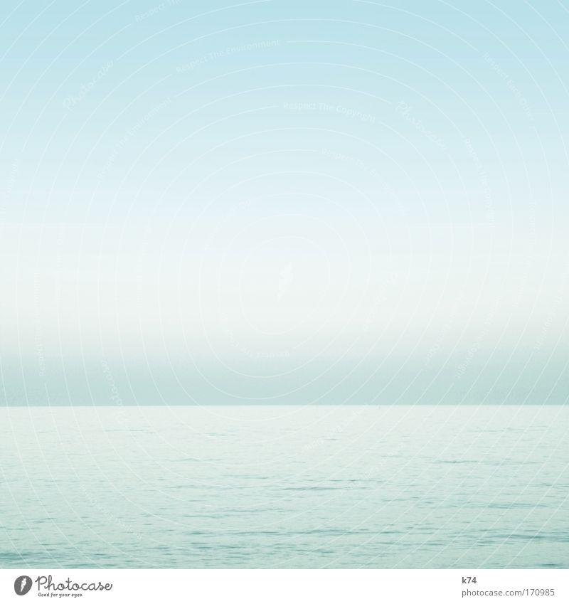 Seestück III Wasser Himmel Meer blau ruhig See hell glänzend Horizont frisch leicht