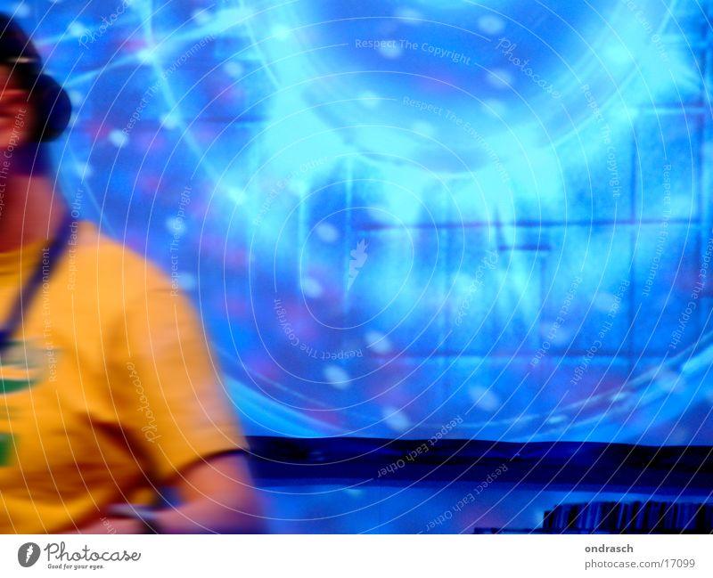 Feiertag Party Musik Tanzen Feste & Feiern Disco liegen Club Diskjockey Bühnenbeleuchtung Schallplatte laut Hiphop Discokugel